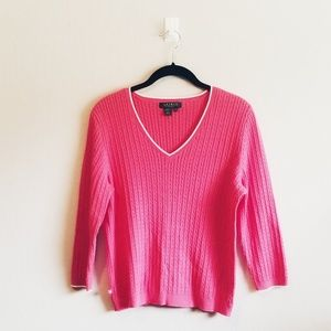 Ralph Lauren Cable Knit 3/4 Sleeve Sweater